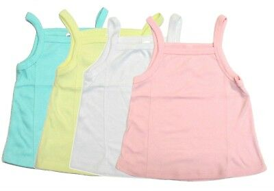 4-Pack Toddler Girls Tank Top Cami Loose Relaxed Fit Undershirt Spaghetti Strap