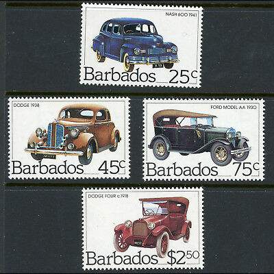 BARBADOS 1983 Classic Cars. SG 730-733. Mint Never Hinged. (AX091)