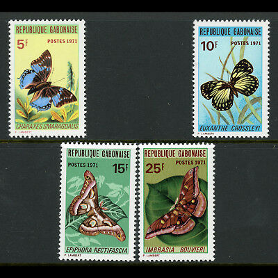 GABON 1971 Butterflies. SG 420-423. Mint Never Hinged. (AY044)