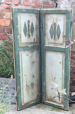 Vintage Hungarian Wooden Rustic Decorative  Shutters