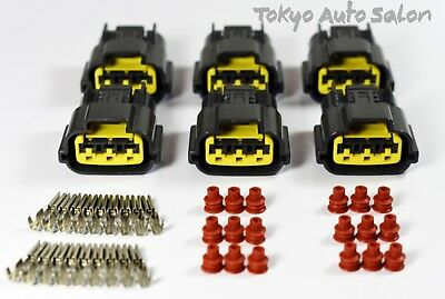 6 x Ignition Coil Connector Plugs – For Nissan Skyline R33 GTST RB25DET Series 2