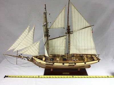 """Large Finished 1847 HARVEY Wood Model Ship 35"""" Long X 26"""" Tall BALTIMORE CLIPPER"""