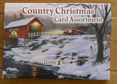 20 Leanin Tree CHRISTMAS Cards, COUNTRY CHRISTMAS, Cows, Pig, Pony, Horse, Ducks
