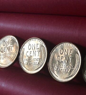 Bu Brilliant Uncirculated Rolls Pennies Lincoln Wheat Penny Collection Estate Us