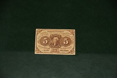 5 Cent 1st Issue Fractional Currency FR 1230 Very Fine Civil War