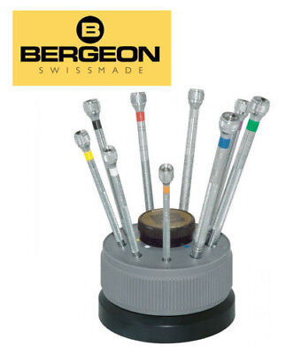 NEW High Quality Swiss Made Bergeon 9 Piece Screwdriver Set (TL-27)