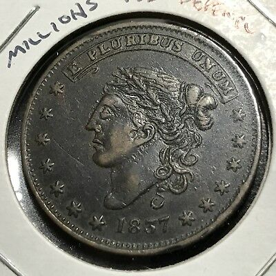 1837 Millions For Defence Not One Cent Hard Times Token