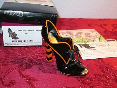 "Just The Right Shoe by Raine ""What a Witch"" 2009 Item Z805575 in Box ORANGE"
