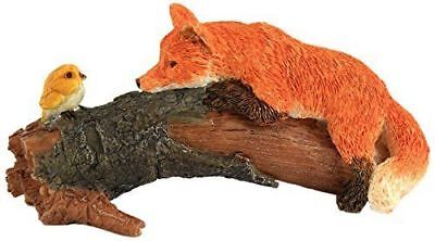 My Fairy Gardens Red Fox with Bird Figure Miniature Top Collection 4277