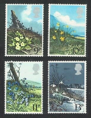 Great Britain Spring Wild Flowers 4v SG#1079-1082