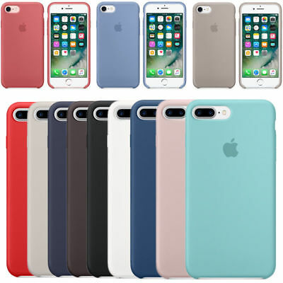 Case For Apple iPhone 8 7 6s Plus 6 6s Cover Genuine Luxury Soft Liquid Silicone