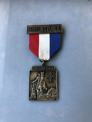 Vintage Bsa Boy Scout Boston Council Freedom Trail Medal  Original