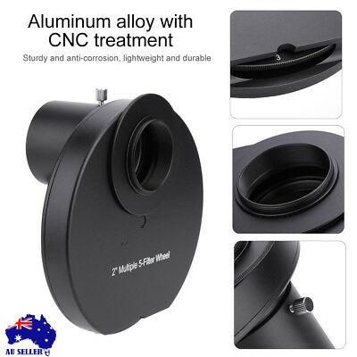 5-position 1.25in Eyepiece Manual Planet Filter Wheel for Astronomical Telescope