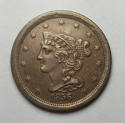 1856 Half Cent - Nice AU Coin Great Color