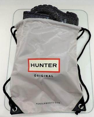Waterproof HUNTER BOOTS LOGO BAG Drawstring Backpack Boot Dust Bag Silver