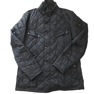 Barbour International Mens XXL Dark Blue Quilted Jacket Windshield Quilt 1936