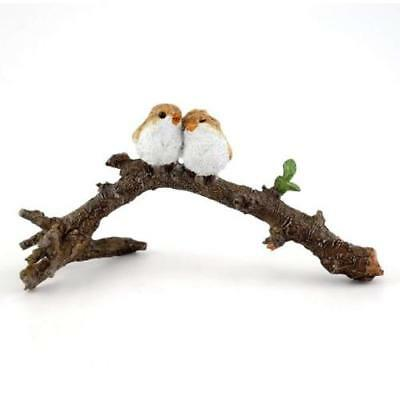 My Fairy Gardens Fairy Love Birds on Branch Figure Miniature 4404