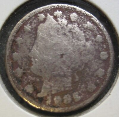 1885 Liberty Head nickel. One of the very rare coins,