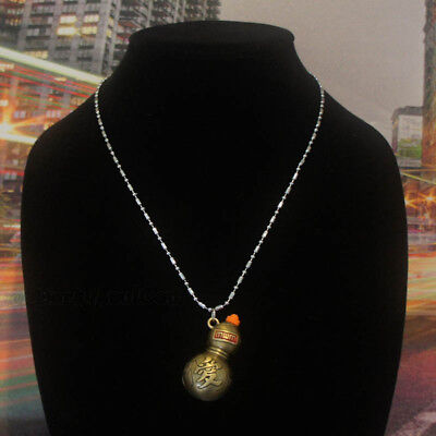 Anime Japanese Naruto Gaara Sand Hidden Village Pendant Chrome Necklace Cosplay
