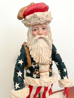 "Duncan Royale Civil War Santa - History of Santa 1983 12"" tall"