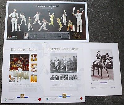 Ricky Ponting  Nadia Comaneci  Gorge Moore  Roger Bannister  All Hand Signed
