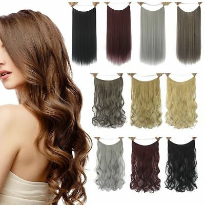 Hidden Halos Secret Wire Real 100% Natural Hair Extensions DIY One Piece 24""