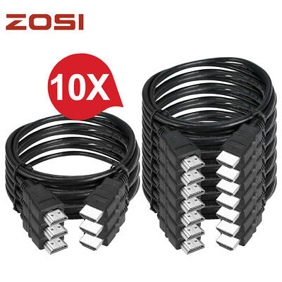 ZOSI Lots 6FT HDMI Cable Wire V1.4 3D 1080P Ethernet  60Hz HIGH SPEED for TV DVR