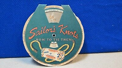 antique Wonder Bread advertisement, turning dial displays tying knots in rope