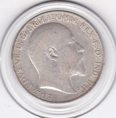 1910   King  Edward  VII  Florin  (2/-)  Sterling  Silver (92.5%)  Coin
