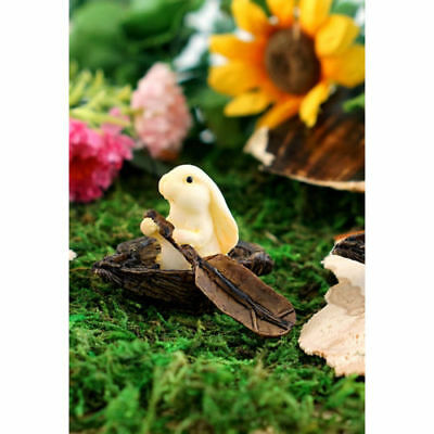 My Fairy Gardens Rabbits Rowing Boat Figure Miniature 4033 Set of 3