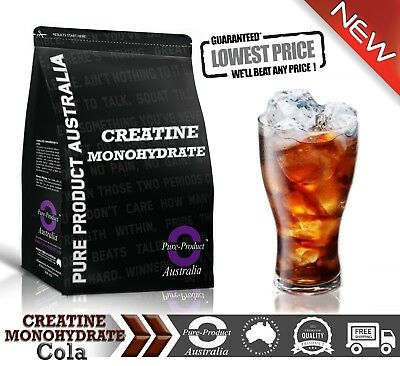 Creatine Monohydrate 500G Pure Powder Hplc Cola Flavour