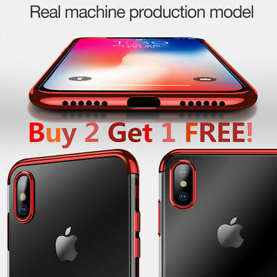 "For iPhone XS MAX 6.5"" / XR 6.1"" Luxury Ultra-Thin Soft TPU Slim Case Plating"