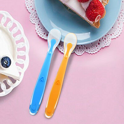 UK Baby Safety Feeding Spoon Soft Food Grade Silicone Spoon Kids Flatware