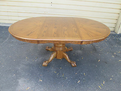 56816 Oak Victorian Claw foot Dining Table