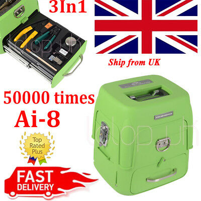 "50000 Ai-8 Automatic Optical Fiber Fusion Splicer 5"" LCD for Night Operation UK"
