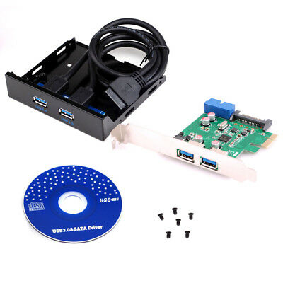 2-ports USB 3.0 PCI-E Express Card with USB 3.0 Front Panel For Desktop PC 20pin