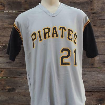 Pittsburgh Pirates Roberto Clemente #21 Jersey Adult Size XL Road Gray