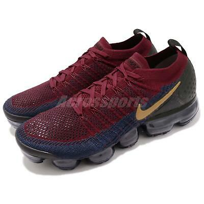 Nike Air Vapormax Flyknit 2 II Olympic Red Wheat Navy Black Men Shoes 942842-604