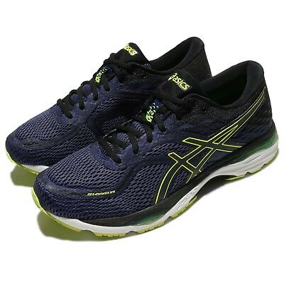 2d381e73f405 Asics Gel-Cumulus 19 Blue Safety Yellow Men Running Shoes Trainers  T7B3N-4990