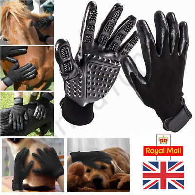 UK Pet Dog Cat Grooming Gloves Brush Hair Remover Massgae Horse Washing Cleaners