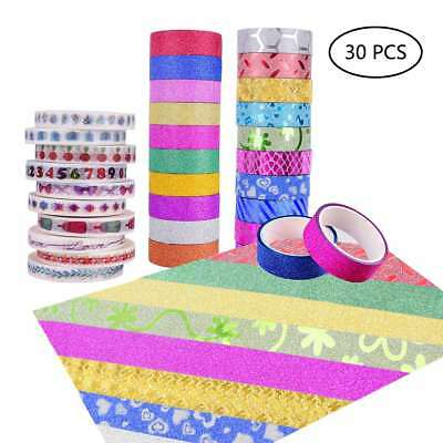 Masking Tapes Cartoon Patterns & Glitter Tapes in Pure Colors & Glitter Tapes