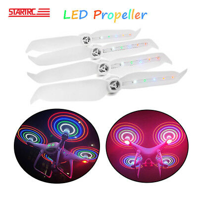 2 Pairs LED Flash Propellers Chargeable For DJI Phantom 4 Pro V2 Accessories