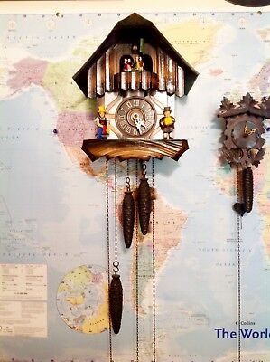 Beautiful 1960's German Musical Cuckoo Clock See My Video