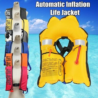 Adult Automatic Inflation Life Jacket Manual Inflatable 150N PFD Survival Vest