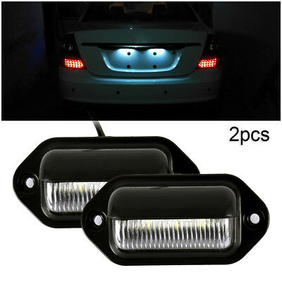 2X 6LED 12/24V License Number Plate Light Tail Rear Lamp For Truck Trailer Lorry