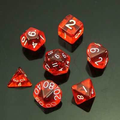 1 Set Dice 7 Polyhedral Sided For Dungeons&Dragons Game Plastic Practical Kit