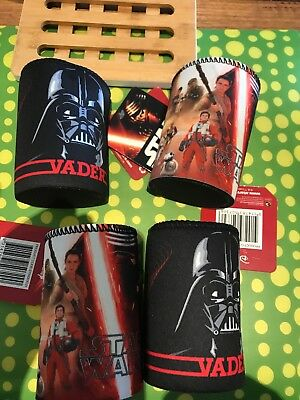 4 New Star Wars Stubby Holder Disney Darth Vader New With Tags