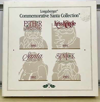 Longaberger Commemorative Santa Collection Pewter Christmas Ornaments