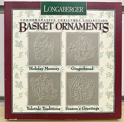 Longaberger Commemorative Christmas Collection Pewter Basket Ornaments
