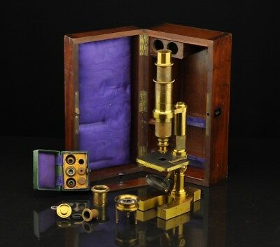 Antique Microscope HARTNACK , Paris